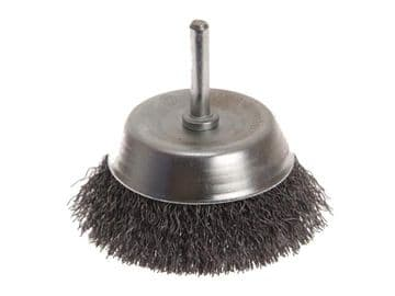 Wire Cup Brush 75mm x 6mm Shank, 0.30mm Wire